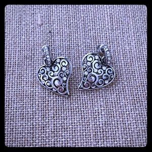 Brighton drop Heart earrings with stones